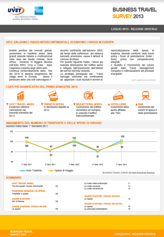 Business Travel Survey Luglio 2013