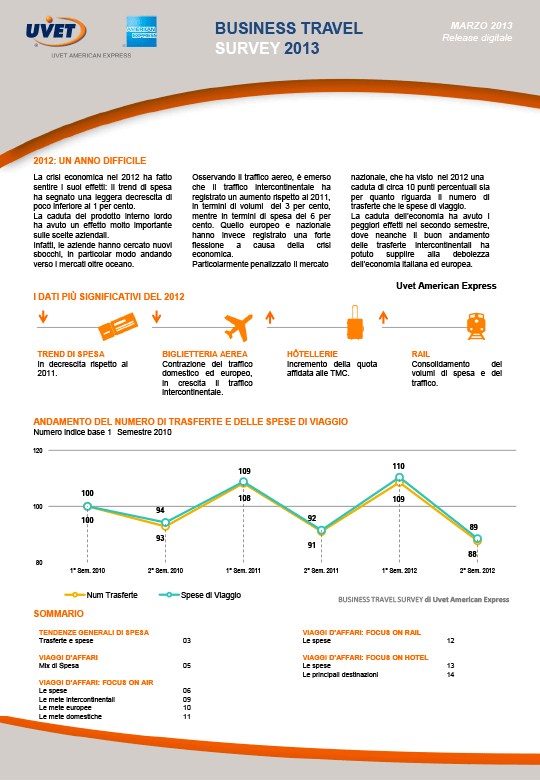 Business Travel Survey Marzo 2013